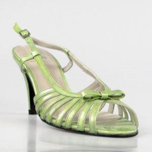 sandalias charol verde. u380