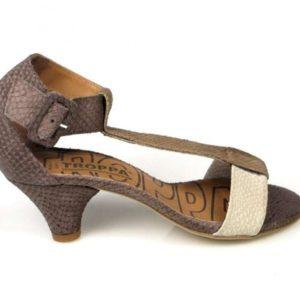 sandalia marrón combinada . o757