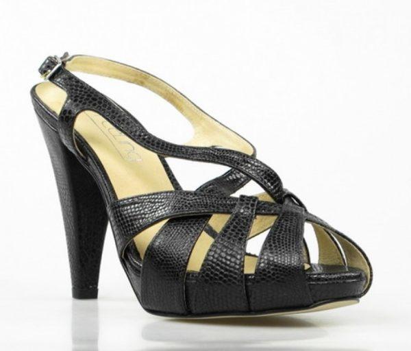sandalias de piel tacón alto.u553