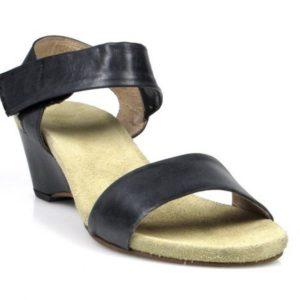 sandalias negras de cuña .u443