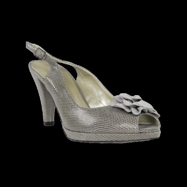 Zapatos vestir grises plataforma