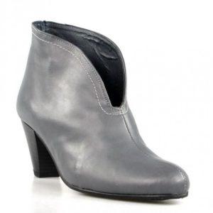 botines grises de piel.u393