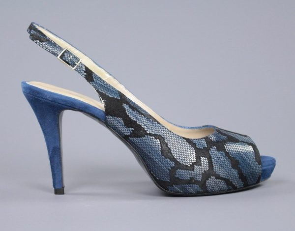 peep toe azul metal.o88