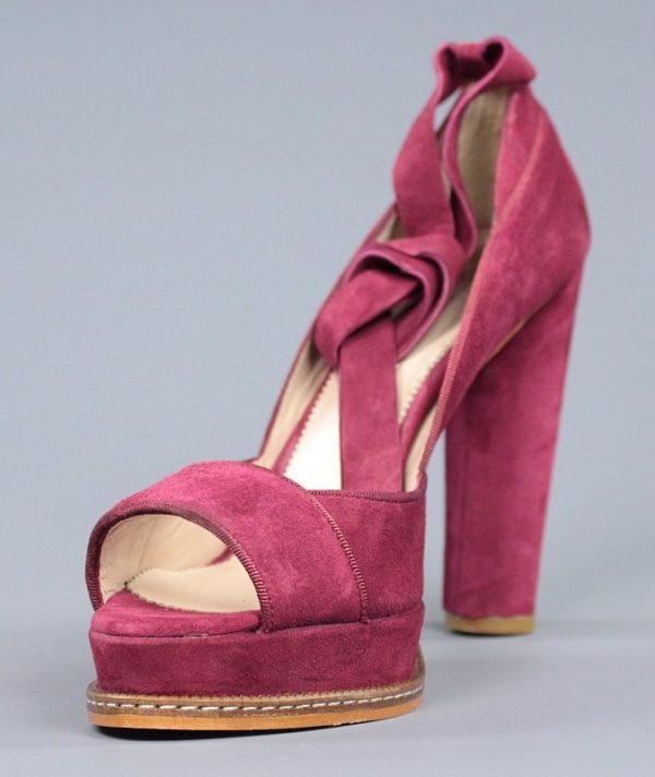zapato granate con plataforma.o97