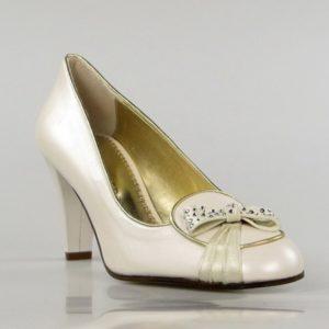 zapato novia de piel. u516