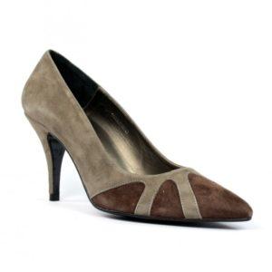Zapatos tacón taupe.u716eb