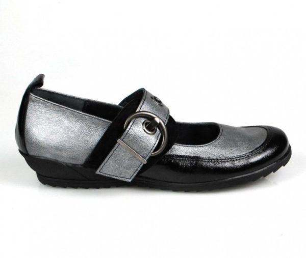 zapatos plateados sport . u252