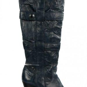 botas azules de piel . u163
