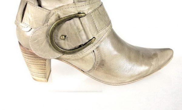 botas de piel beige.o331