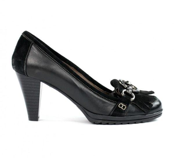 Zapatos tacón negros.u746