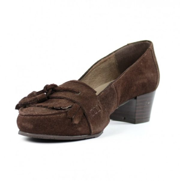 Zapatos bajos marrones .u744