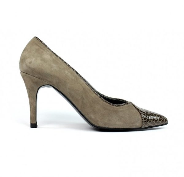 Zapatos taupe salón.u727eb