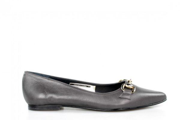 zapatos puntera grises planos.u644