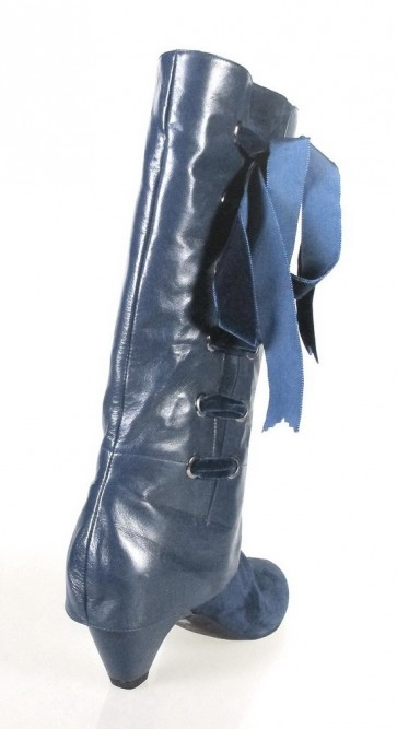 botas azules piel y ante.o463