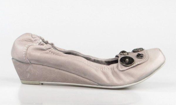 zapatos de cuña de piel. u237
