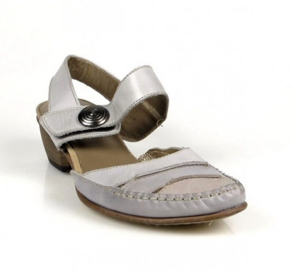 zapatos grises tacón bajo .o825
