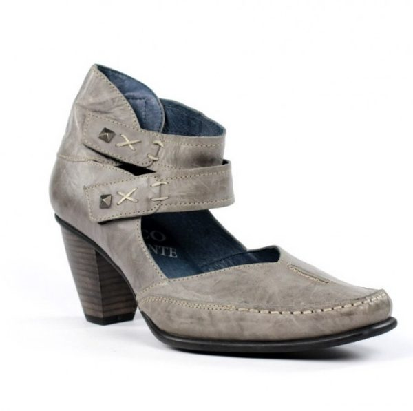 Zapato piel blanda taupe.u763