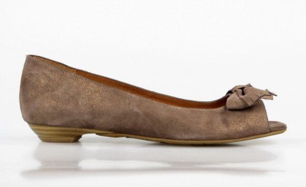 zapato marrón bajo. u097