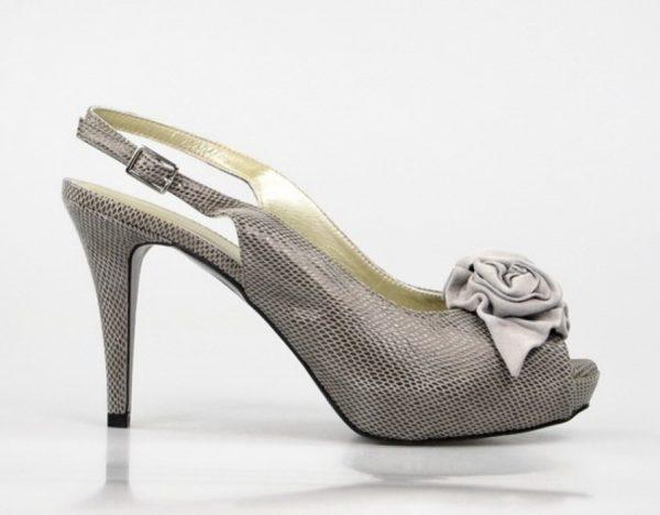 peep toe gris oscuro con flor.u431