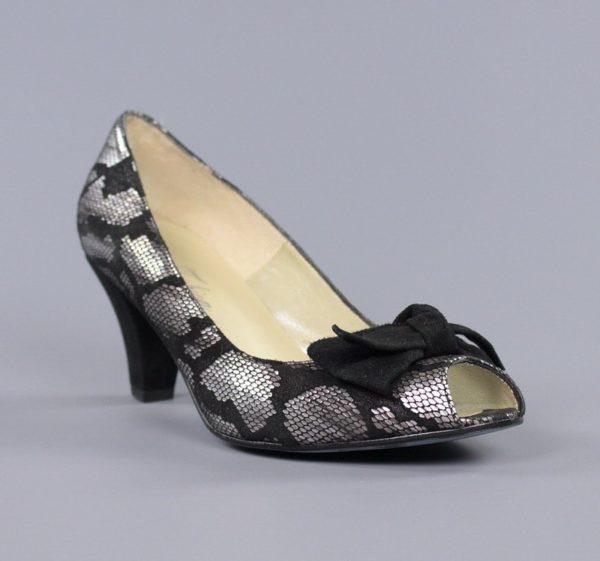 Zapatos metal negro serpiente.u827x