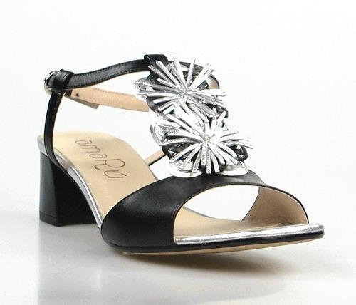 Sandalia negras flor.t009t