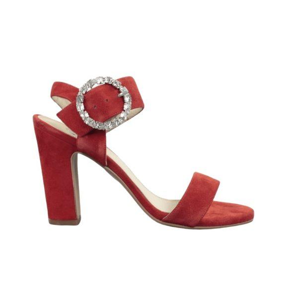 Sandalia roja tacón.t020x
