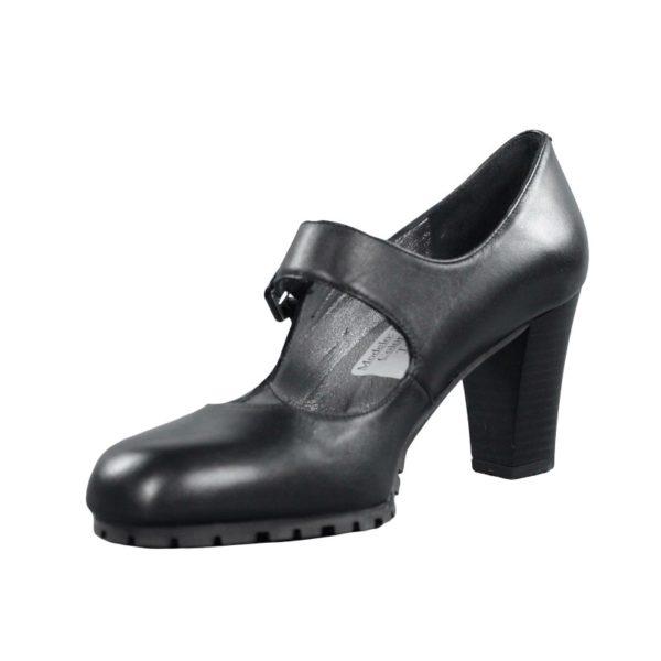 Zapato negro tacón.t040xal
