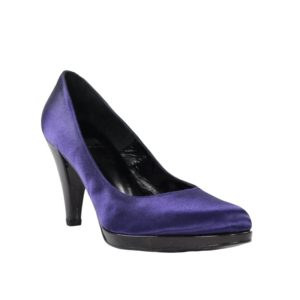 Zapatos tacón lila.t063xal