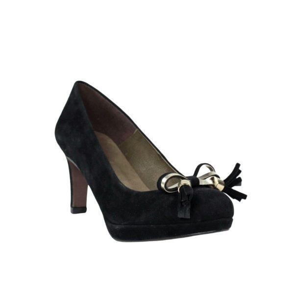 Zapatos negros tacón.t068xal