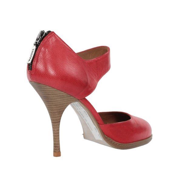 Zapatos rojos tacón.t077x