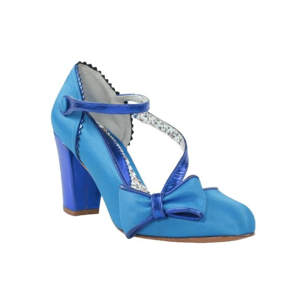 Zapato azul raso miss.t080x