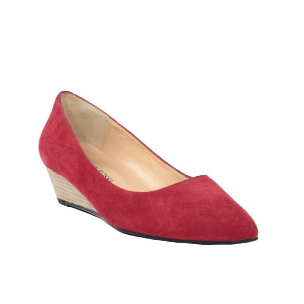 Zapato rojo cuña.t081x
