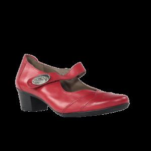 Zapatos rojos de piel baratos mujer