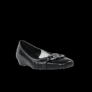 Zapatos bajos de cuña piel